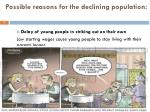 possible reasons for the declining population3