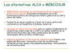 las alternativas alca o mercosur1