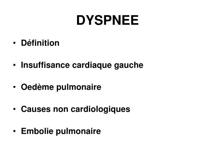 DYSPNEE