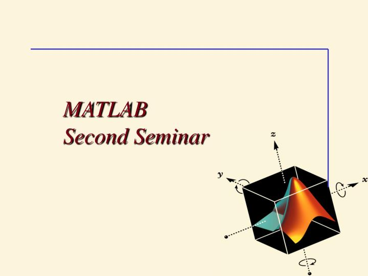 matlab second seminar n.