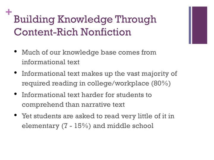 Building Knowledge Through Content-Rich Nonfiction