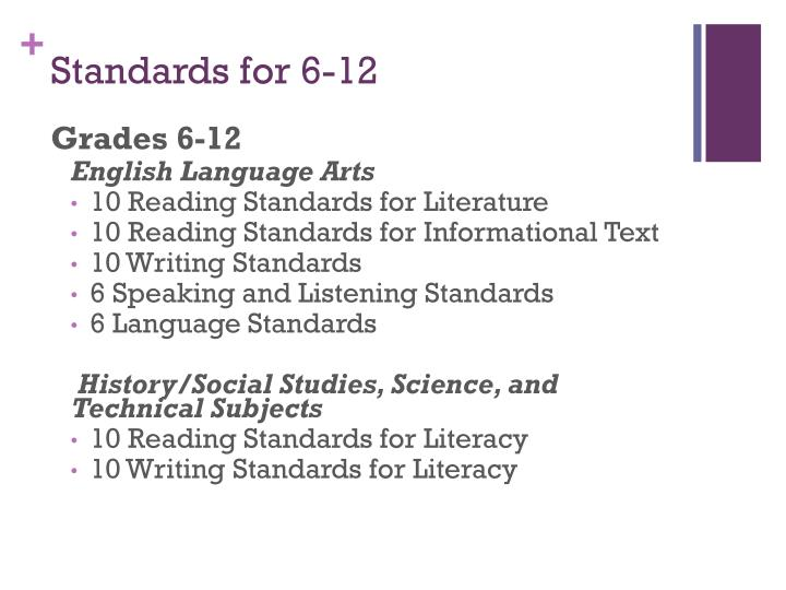 Standards for 6-12