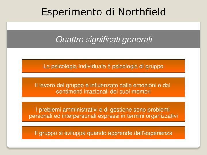Esperimento di Northfield