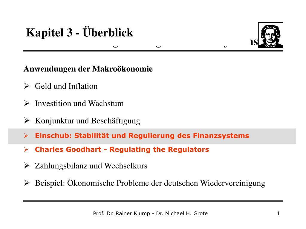 PPT - Kapitel 3 - Überblick PowerPoint Presentation - ID:3871458