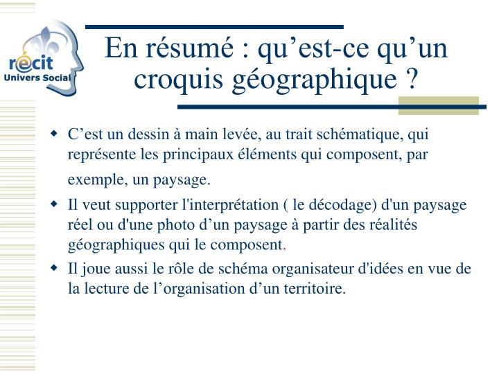 Ppt Le Croquis Geographique Powerpoint Presentation Id 3871476