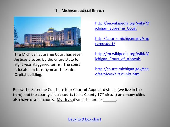 The Michigan Judicial Branch