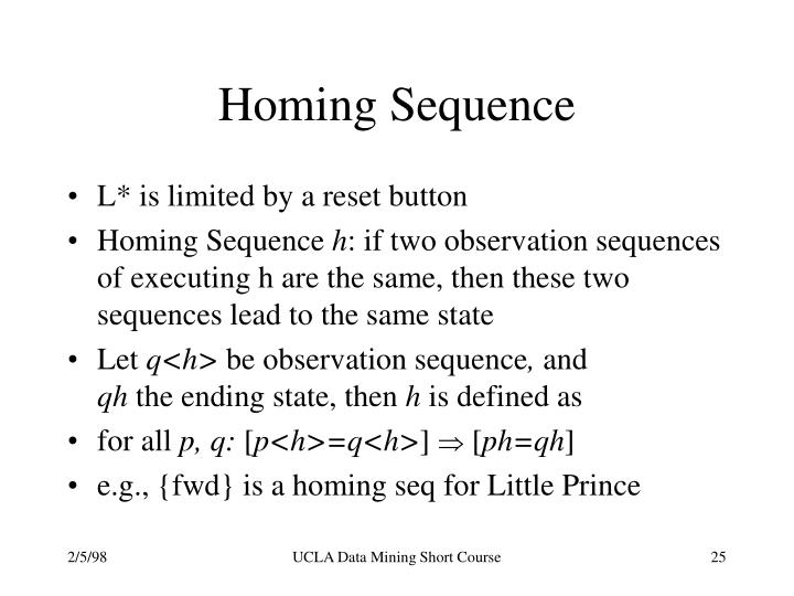 Homing Sequence