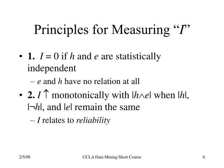 "Principles for Measuring """