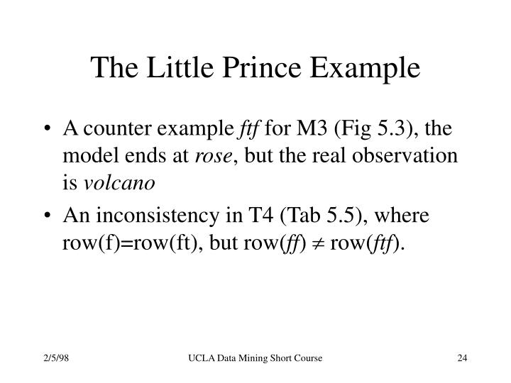 The Little Prince Example