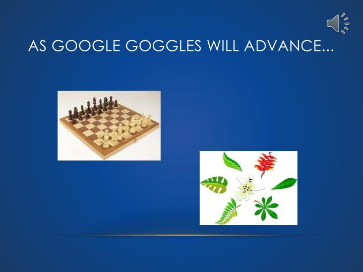 As Google Goggles will advance...