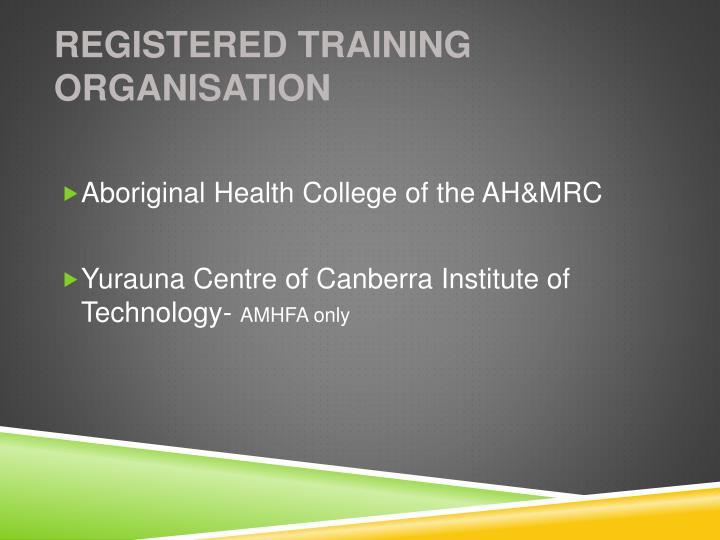 Registered Training Organisation