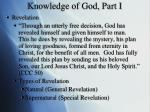 knowledge of god part i