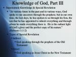 knowledge of god part iii