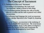 the concept of sacrament