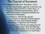 the concept of sacrament1