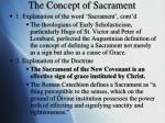 the concept of sacrament2