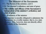 the minister of the sacraments1