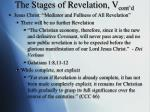 the stages of revelation v cont d