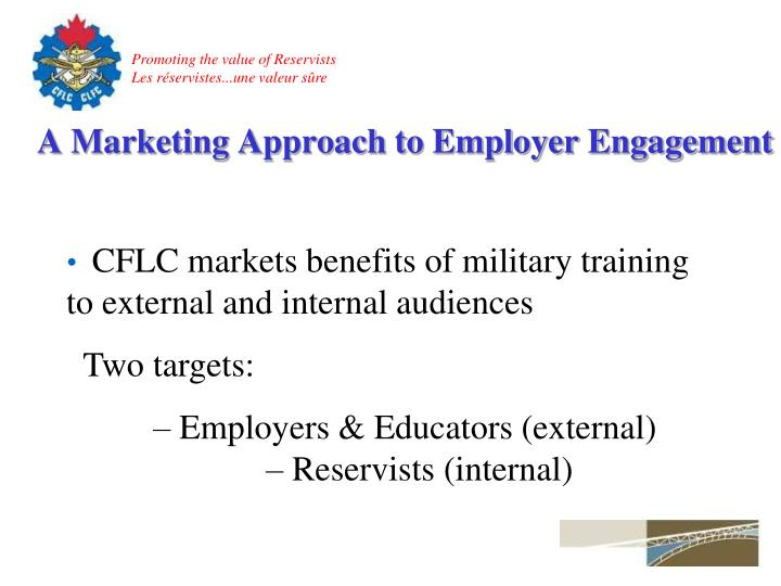 A Marketing Approach to Employer Engagement