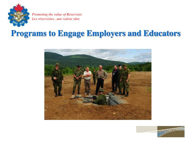 Programs to Engage Employers and Educators