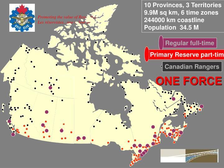 10 Provinces, 3 Territories