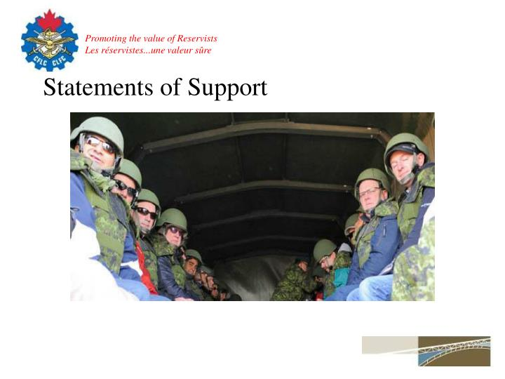 Statements of Support