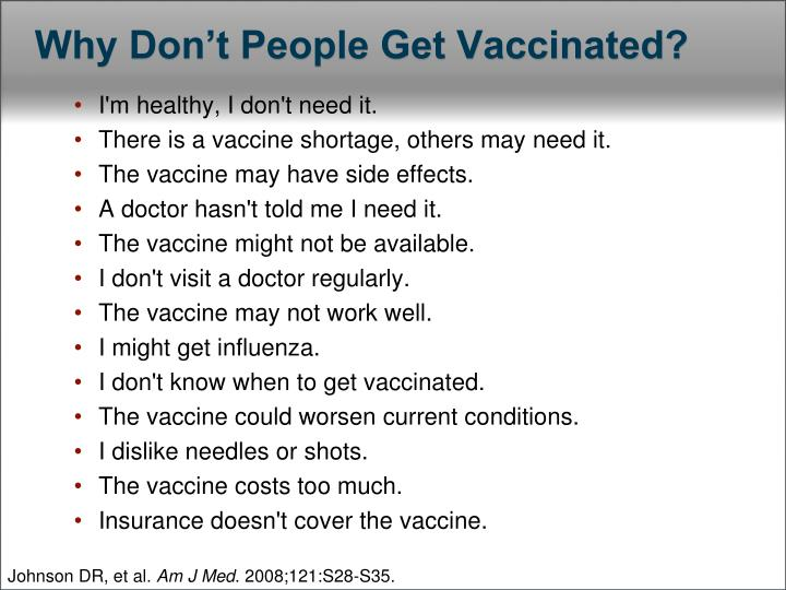 Why don t people get vaccinated
