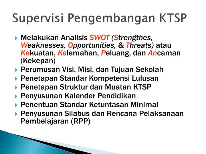 Supervisi Pengembangan KTSP