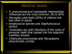 bacterial causes