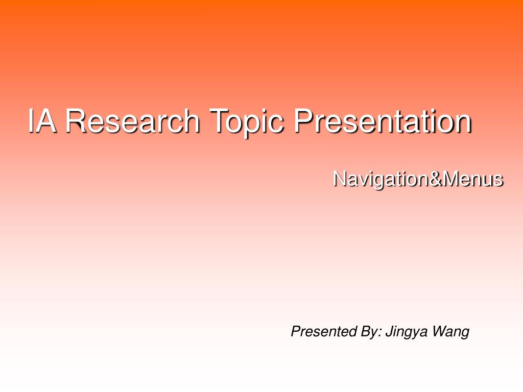 research topic presentation