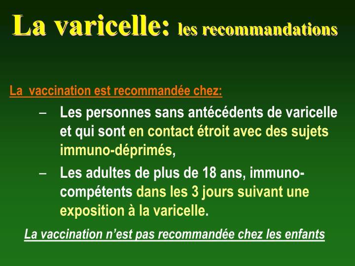 La varicelle: