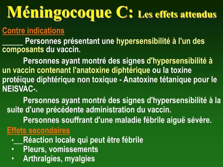 Méningocoque C: