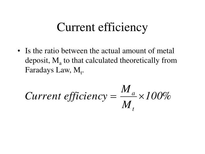 Current efficiency