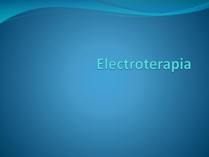 electroterapia n.