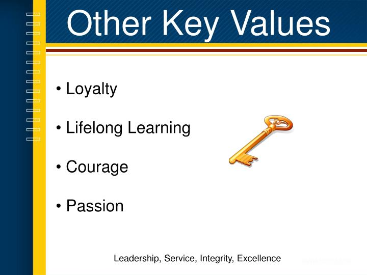Other Key Values