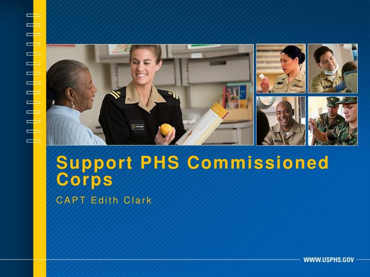 Support PHS Commissioned Corps