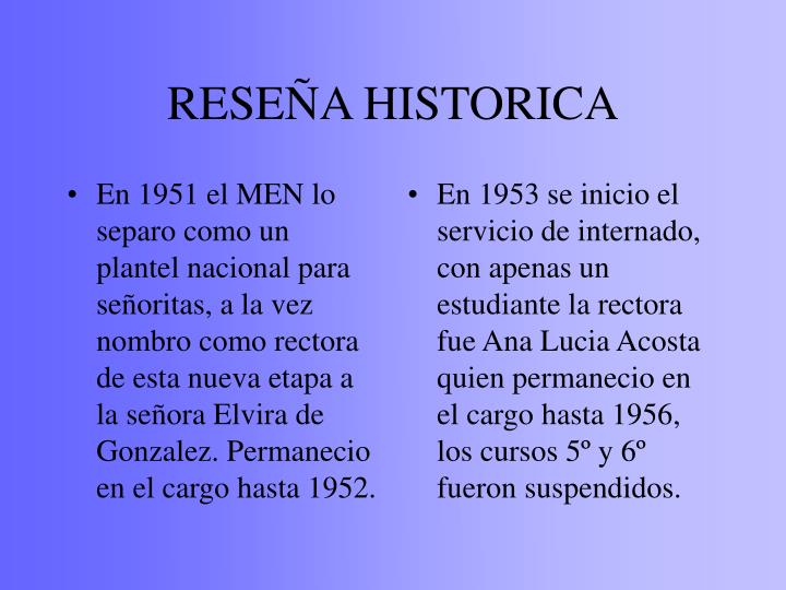 Rese a historica
