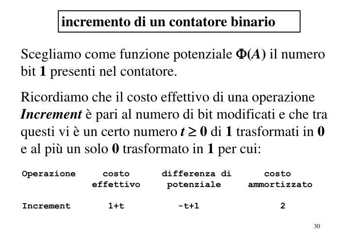 incremento di un contatore binario