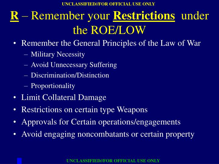 Remember the General Principles of the Law of War
