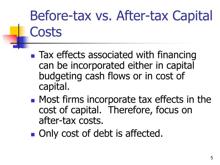 determining the cost of capital can To calculate the firm's weighted cost of capital, we must first calculate the costs of the individual financing sources: cost of debt, cost of preference capital, and cost of equity cap calculation of wacc is an iterative procedure which requires estimation of the fair market value of equity capital.