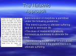 the halakhic approach1
