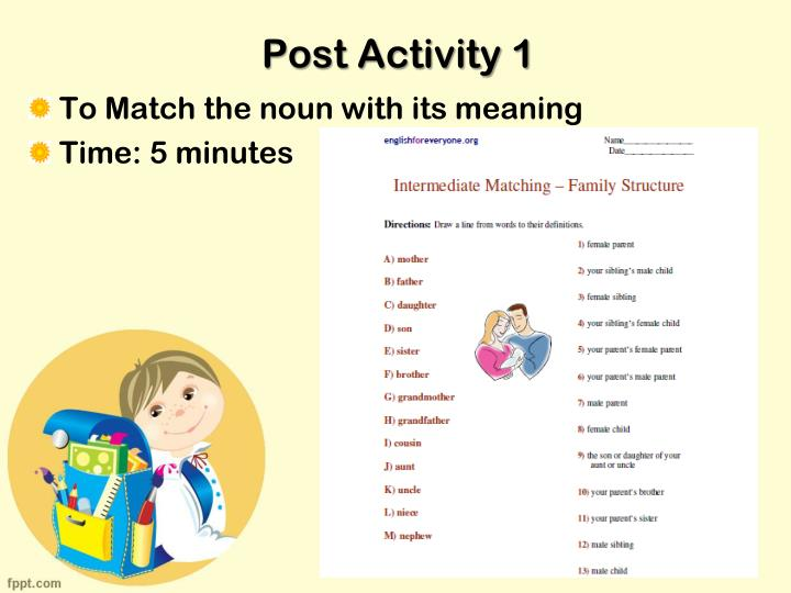 Post Activity 1