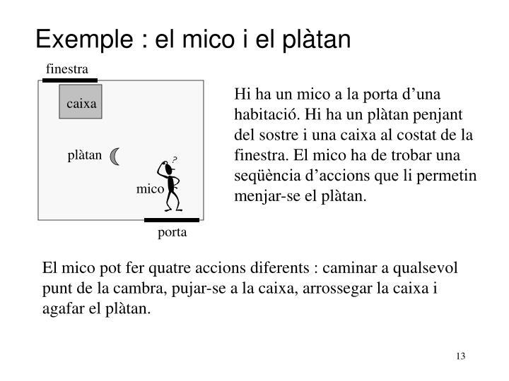 Exemple : el mico i el plàtan