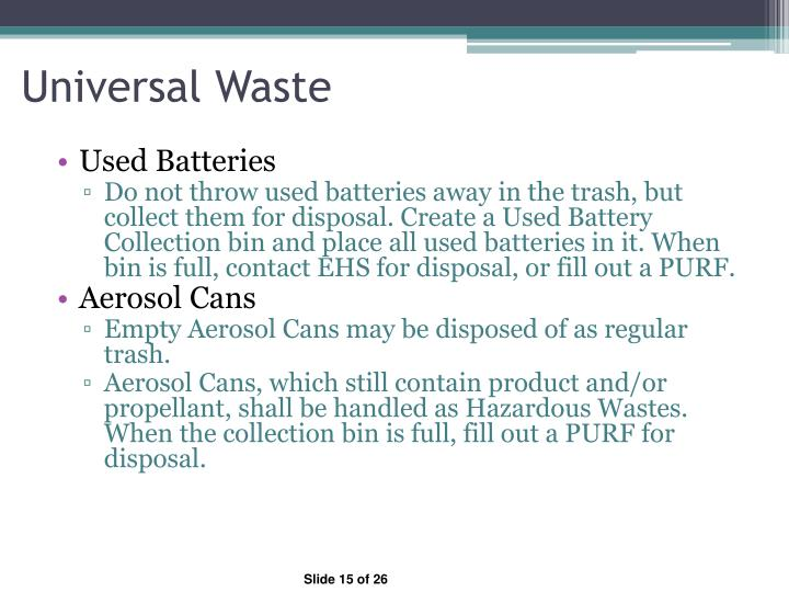 Universal Waste