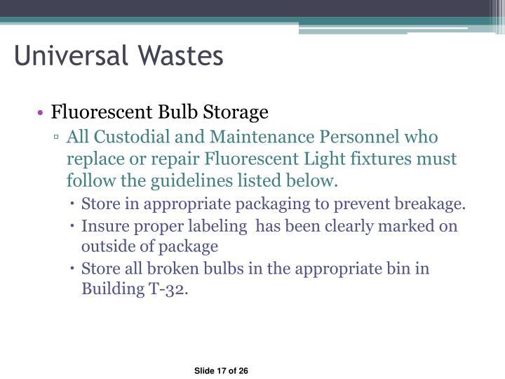 Universal Wastes