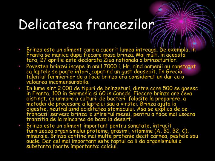 Delicatesa francezilor