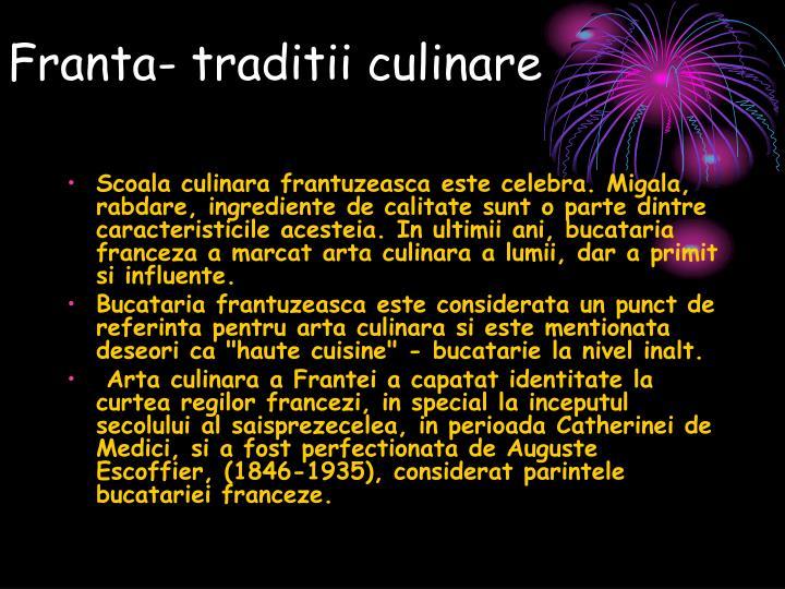 Franta traditii culinare