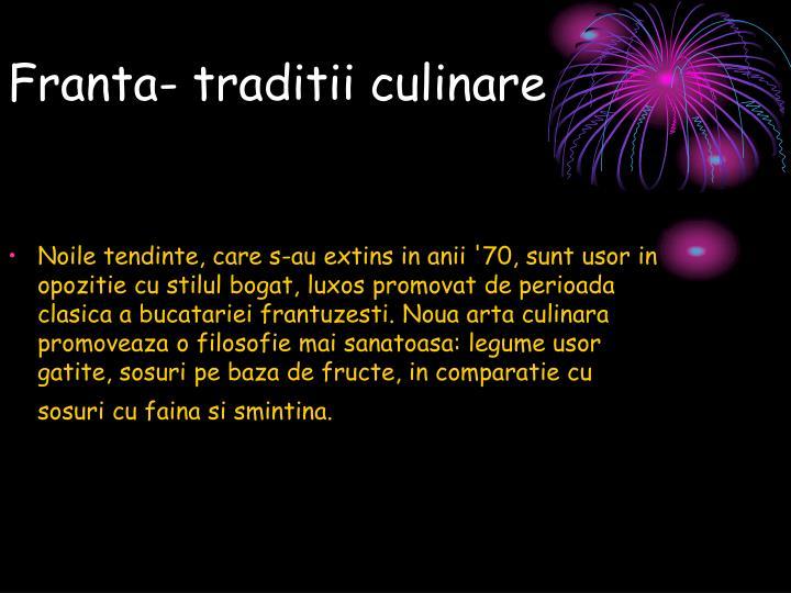 Franta traditii culinare1