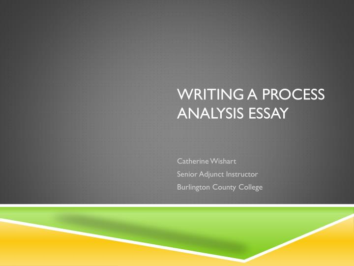 writing a process essays The writing process is a term used in teaching in 1972, donald m murray published a brief manifesto titled teach writing as a process not product.