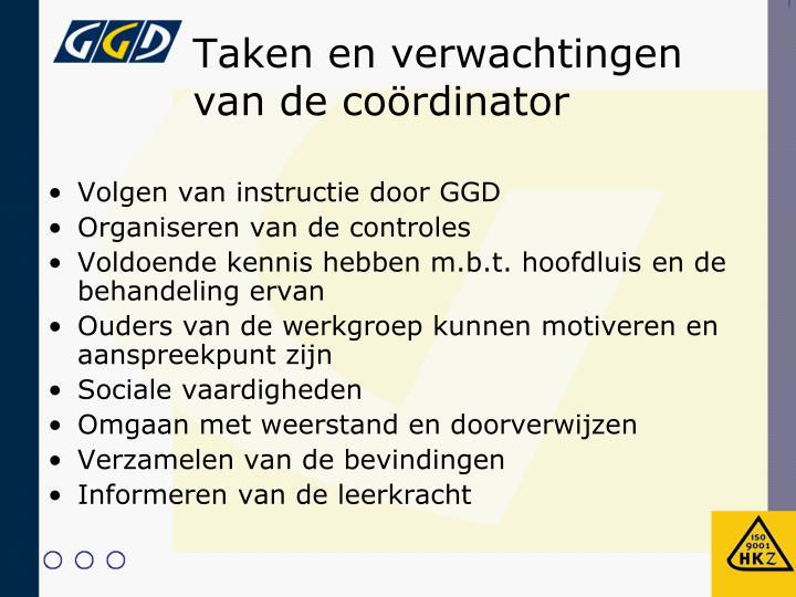 Volgen van instructie door GGD